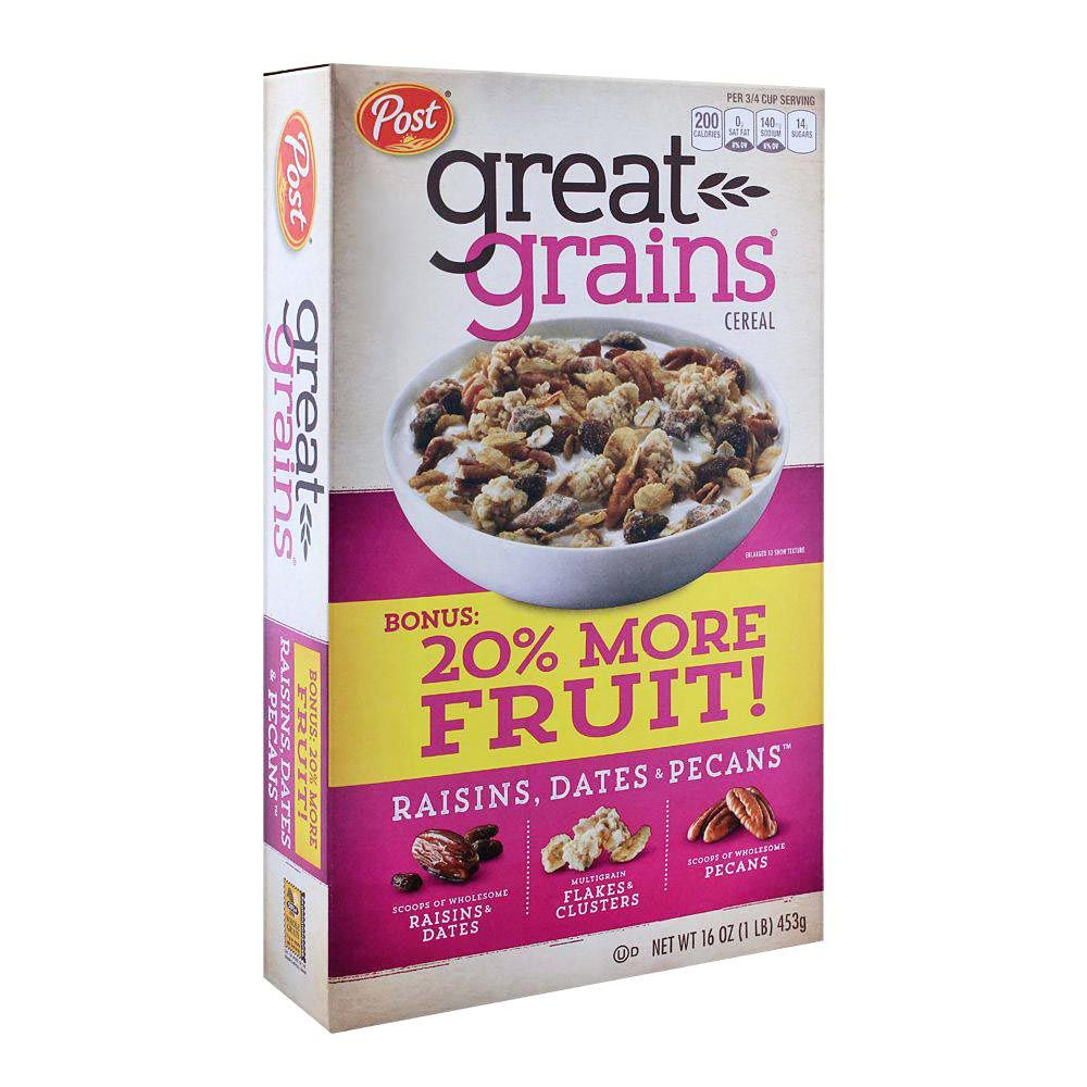 Purchase Post Great Grains Raisin, Dates & Pecans Cereal