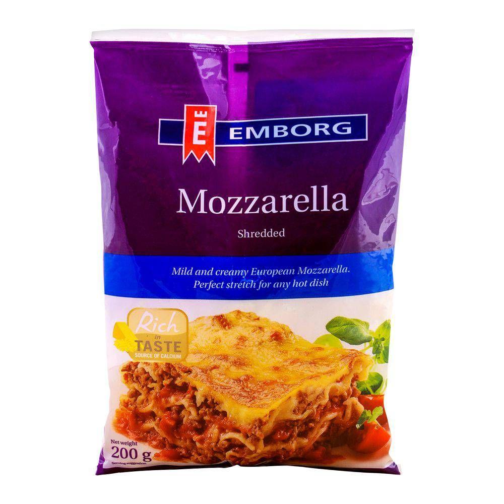 Purchase Emborg Mozzarella Shredded Cheese 200g Online At