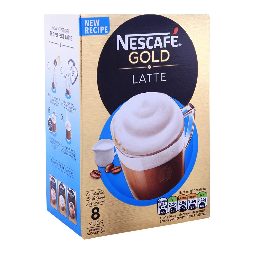 Buy Nescafe Gold Latte Coffee 8x19.5g Online at Best Price ...