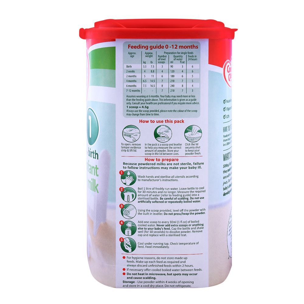 Cow & Gate First Infant Milk No  1, 900gm