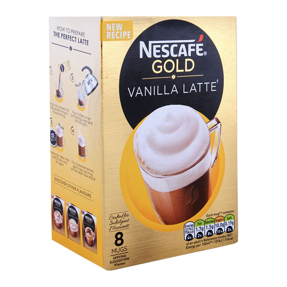 Purchase Nescafe Gold Latte Vanilla Coffee 8x18.5g Online ...