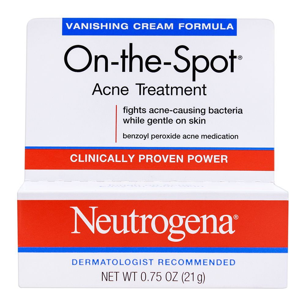 Buy Neutrogena On The Spot Acne Treatment Vanishing Cream 21gm