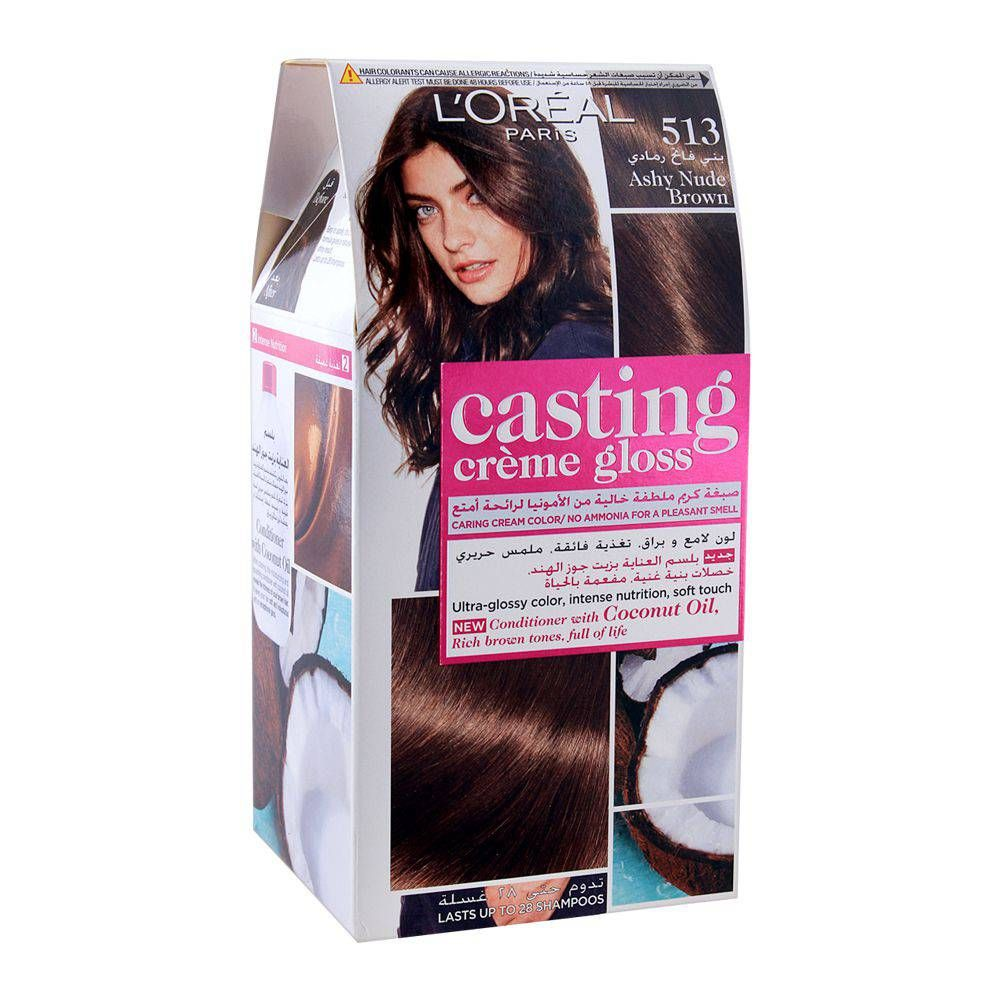 Buy L'Oreal Paris Casting Hair Color, 513 Ashy Nude Brown ...