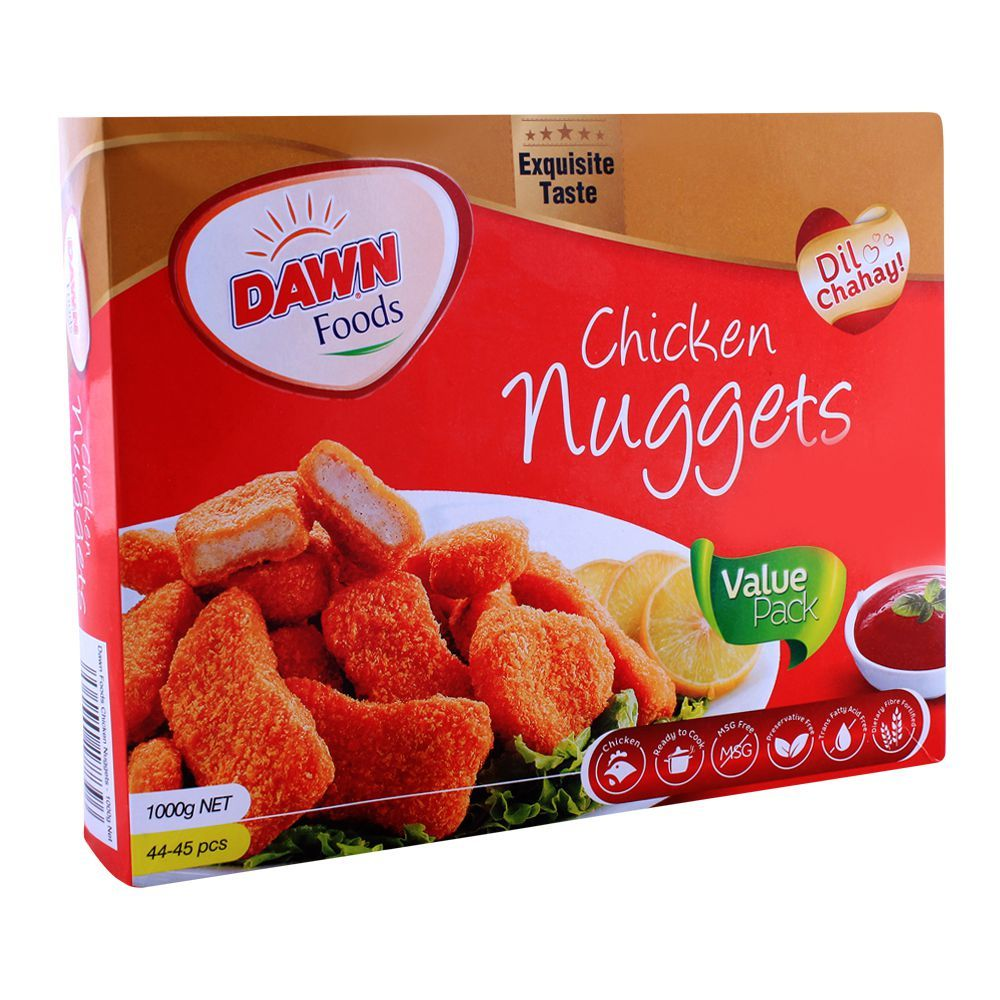 Dawn Chicken Nuggets, 44-45 Pieces, Value Pack, 1000g