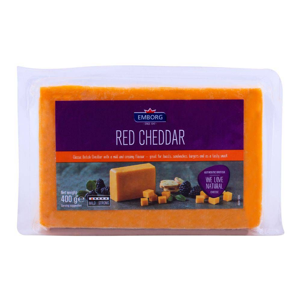 Emborg Red Cheddar Cheese 400g