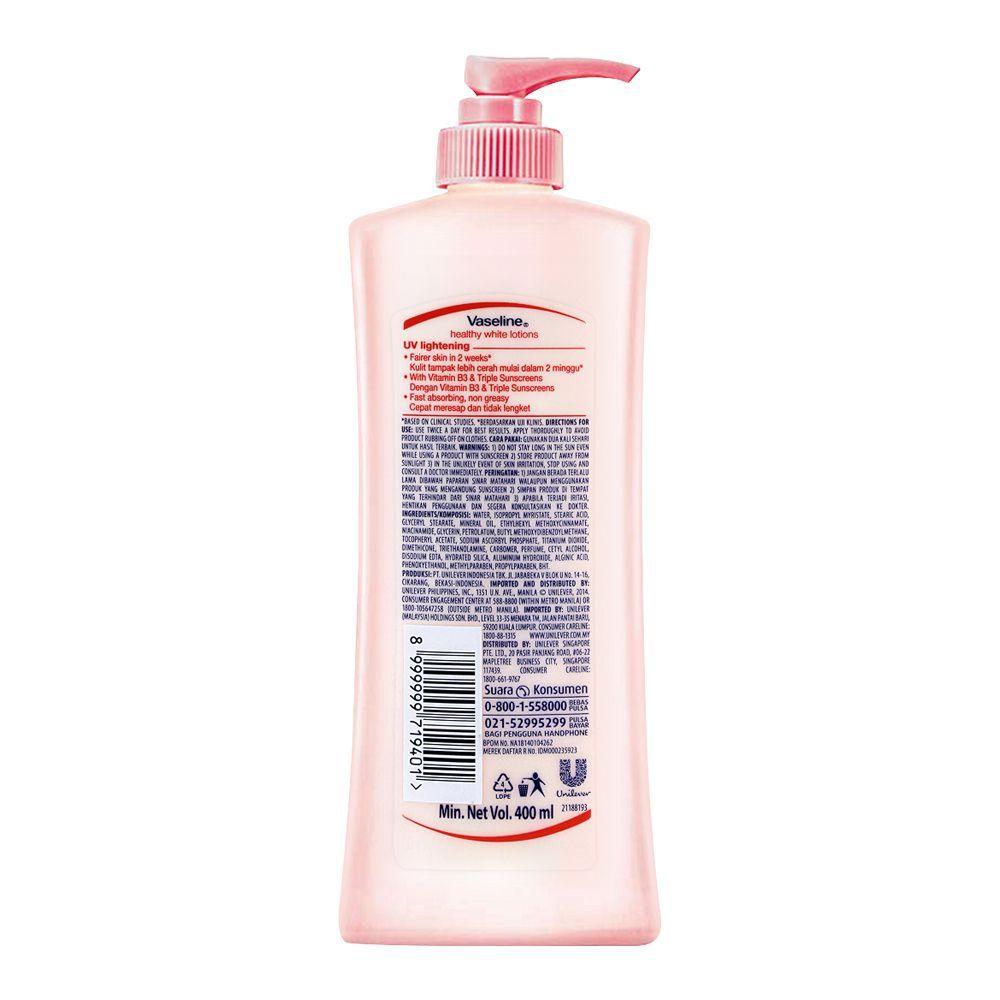 Vaseline Healthy White UV Lightening Sunscreen Lotion 400ml
