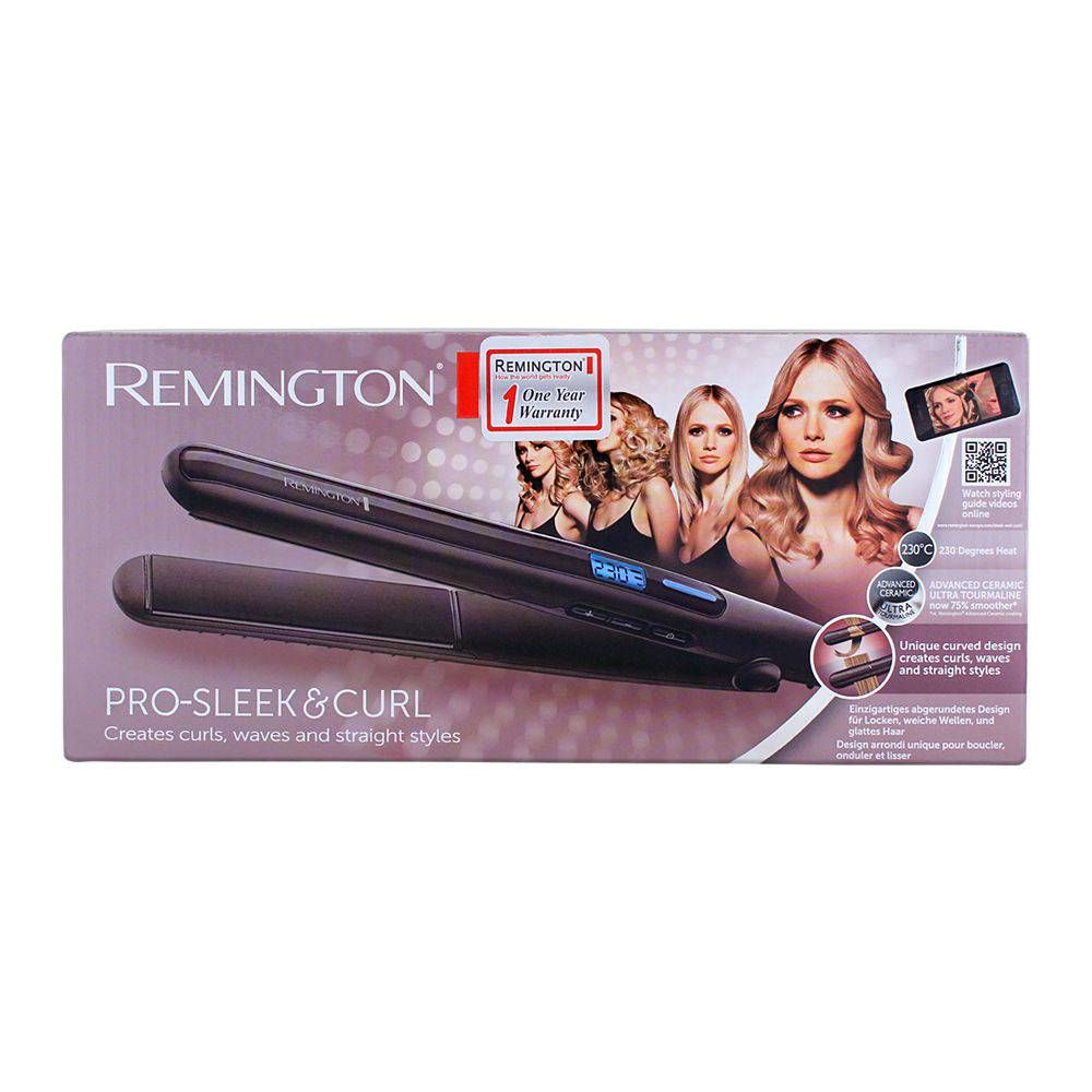 Remington Pro Sleek & Curl Hair Straightener S6505