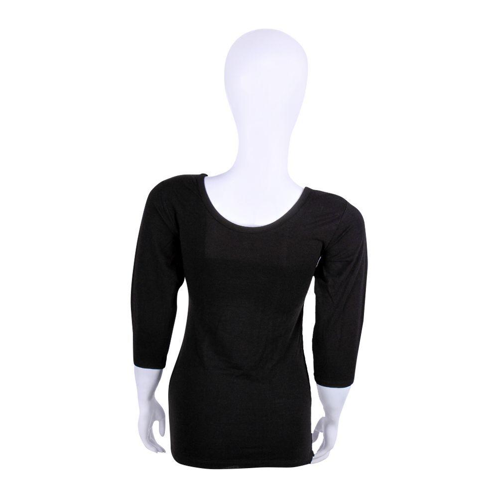 5ee7eab22955d Buy Jockey Thermal 3-Quarter Sleeves Top, Women, Black - WR2503 ...