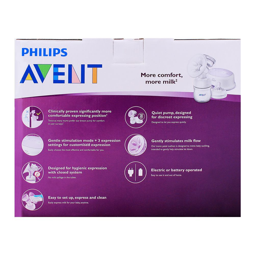 Philips Avent Ultra Comfort Single Electric Breast Pump SCF332//31