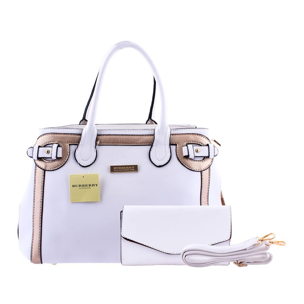 cec522bf924e Buy Burberry Style Women Handbag White - 8829 Online at Best Price ...