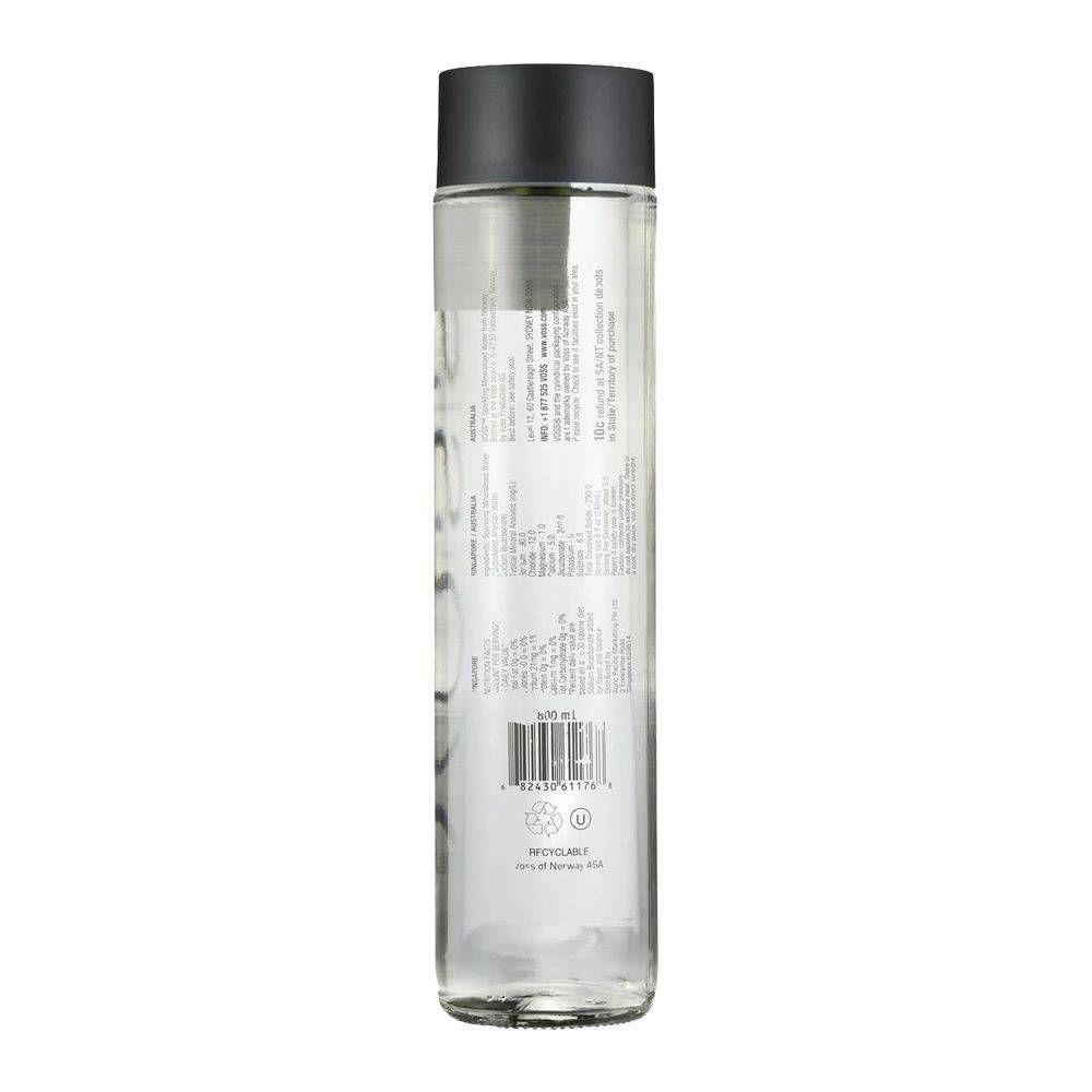 Voss Sparkling Mineralised Water Bottle 800ml