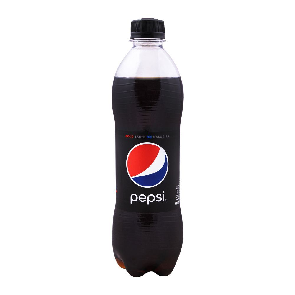 order pepsi black bold taste no calories pet bottle