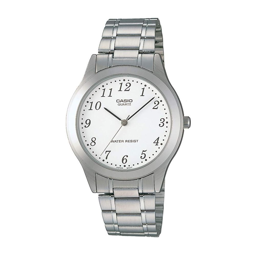 Order Casio Men S Analog Casual Silver Stainless Steel Watch With White Dial Mtp 1128a 7brdf Online At Special Price In Pakistan Naheed Pk