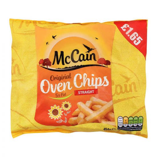 McCain Original Oven Chips, Straight, 5% Fat, 454g