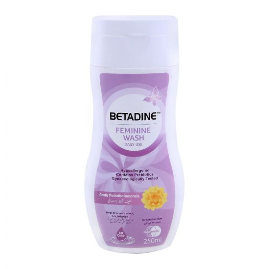 Betadine Feminine Wash Sensitive Skin Gentle Protection 250ml
