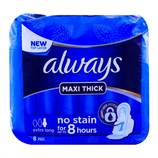 Always Maxi Thick Extra Long Pads 8-Pack