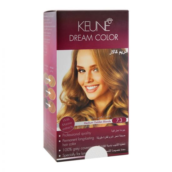 Keune Dream Hair Color, 7.3 Medium Golden Blonde