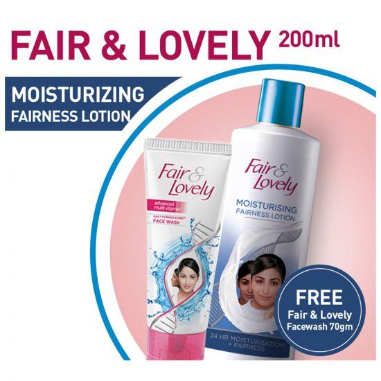 Fair & Lovely Moisturizing Fairness Lotion + Fair & Lovely Facewash 70gm