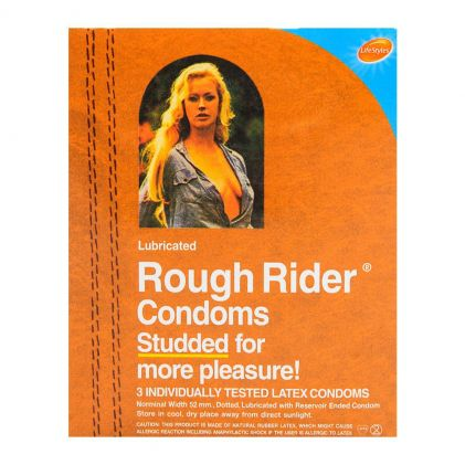 Rough Rider Studded Latex Condoms 3-Pack