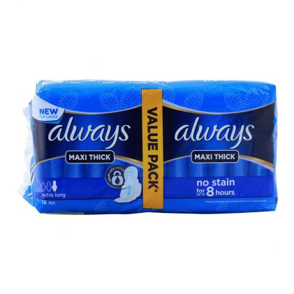 Always Maxi Thick Extra Long 16 Pads Value Pack