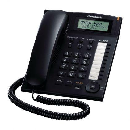 Panasonic Corded Integrated Landline Phone System, White, KX-TS880MX