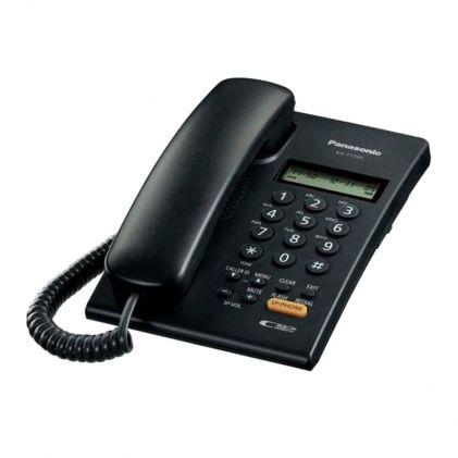 Panasonic Corded Landline Phone With Caller ID, Black, KX-T7705SX