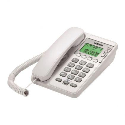 Uniden Backlit LCD Caller ID Speakerphone, White, AS6404