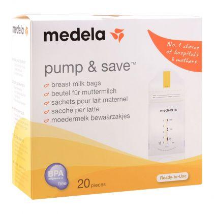 Medela Pump & Save Breast Milk Bags, 20-Pack