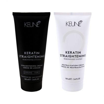 Keune Keratin Straightening Rebonding System, Strong, 200ml