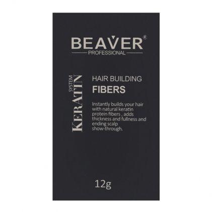 Beaver Professional Keratin System Hair Building Fibers Dark Brown 12g