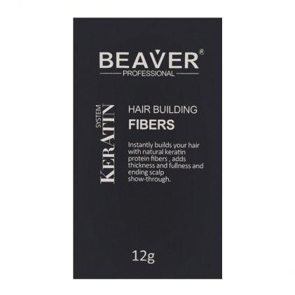 Beaver Professional Keratin System Hair Building Fibers Medium Brown 12g