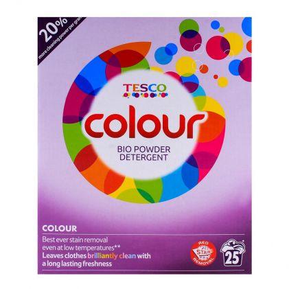 Tesco Colour 25 Wash Bio Powder Detergent 1.625 KG