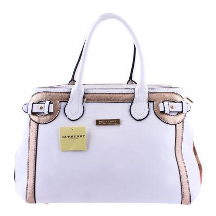 Buy Burberry Style Women Handbag White - 8829 Online at Best Price ... 5661202c2f