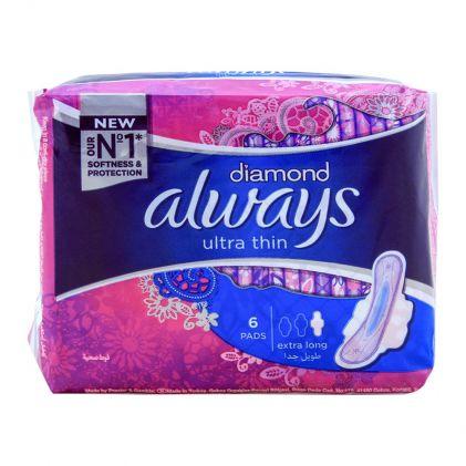 Always Diamond Ultra Thin Extra Long 6 Pads