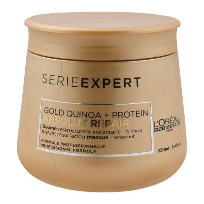 L'Oreal Professionnel Serie Expert Gold Quinoa + Protein Absolut Repair Hair Masque, 250ml
