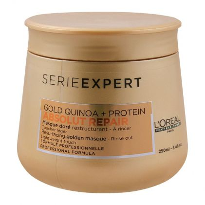 L'Oreal Professionnel Serie Expert Gold Quinoa + Protein Absolut Repair Golden Hair Masque, 250ml