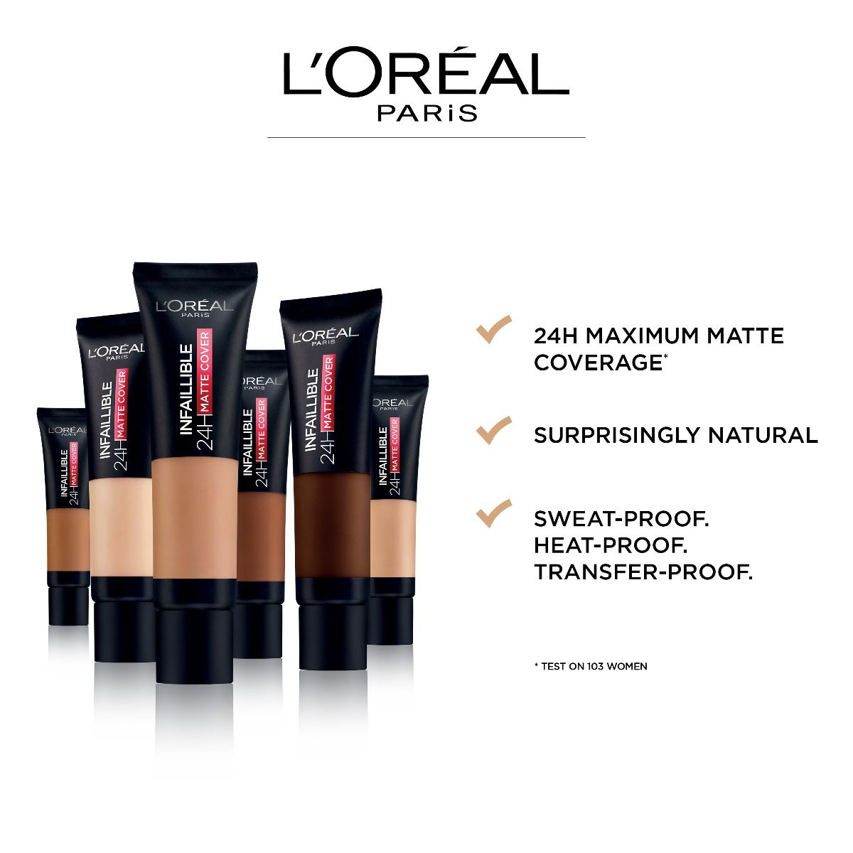 Buy L Oreal Paris Infallible 24h Matte Cover Foundation 110 Rose Vanilla Online At Best Price In Pakistan Naheed Pk