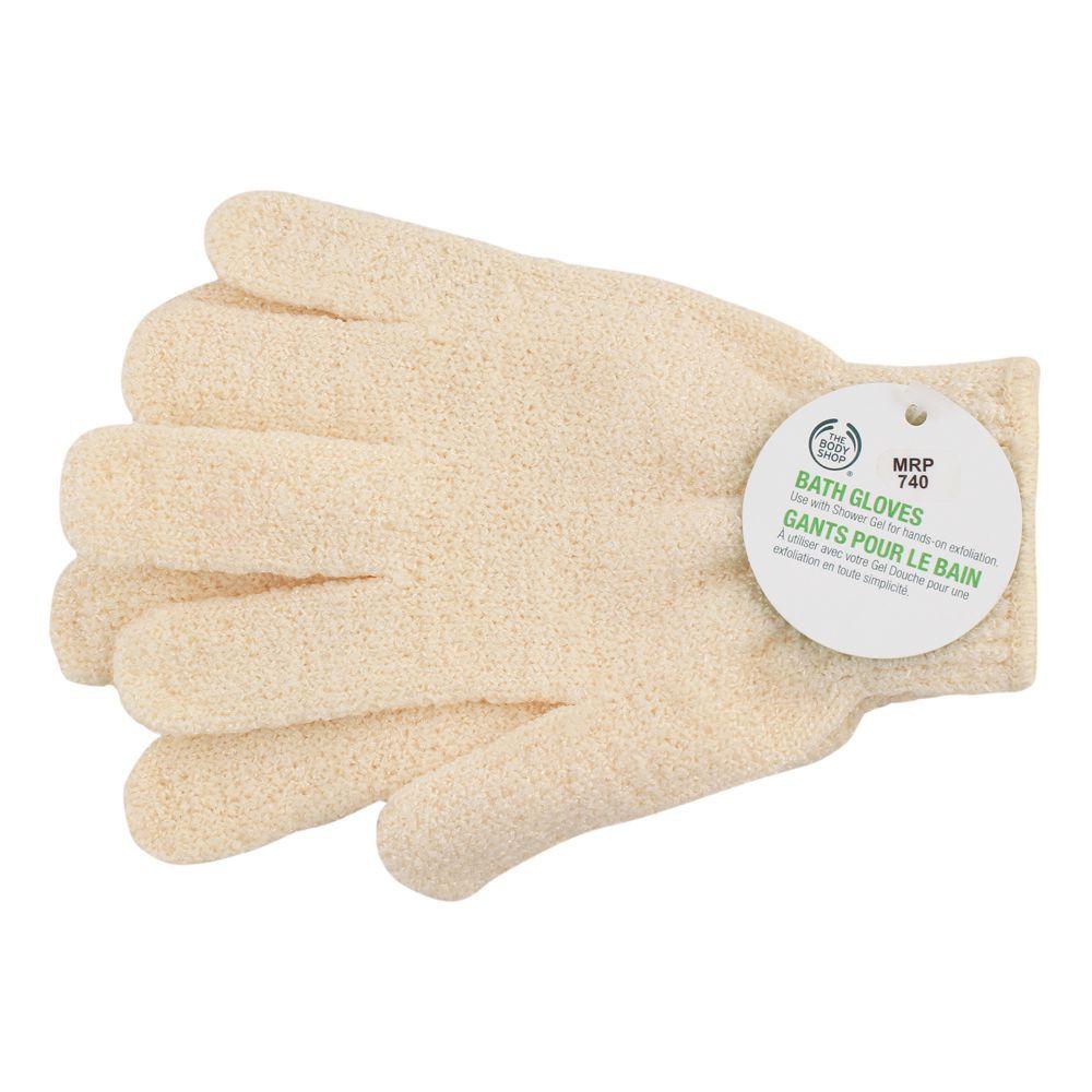 The Body Shop Bath Gloves, Cream