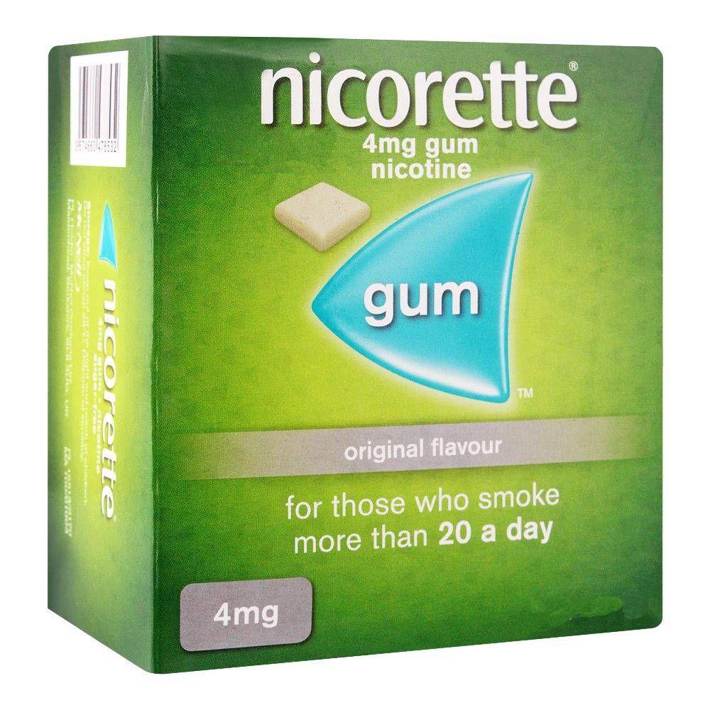 Nicorette Original Flavour Gum, 4g, 1 Strip (15 Tablets)