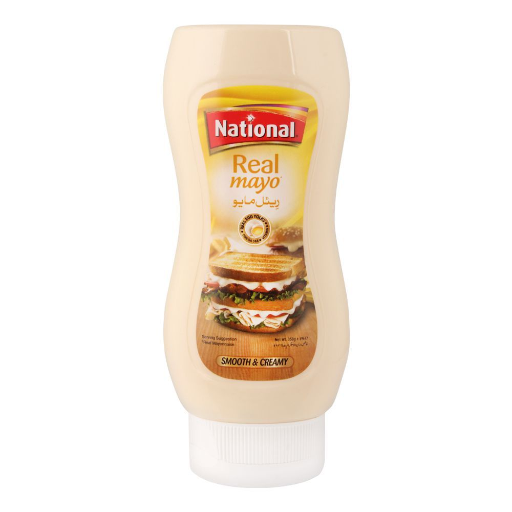 National Real Mayonnaise Squeezy, 350g
