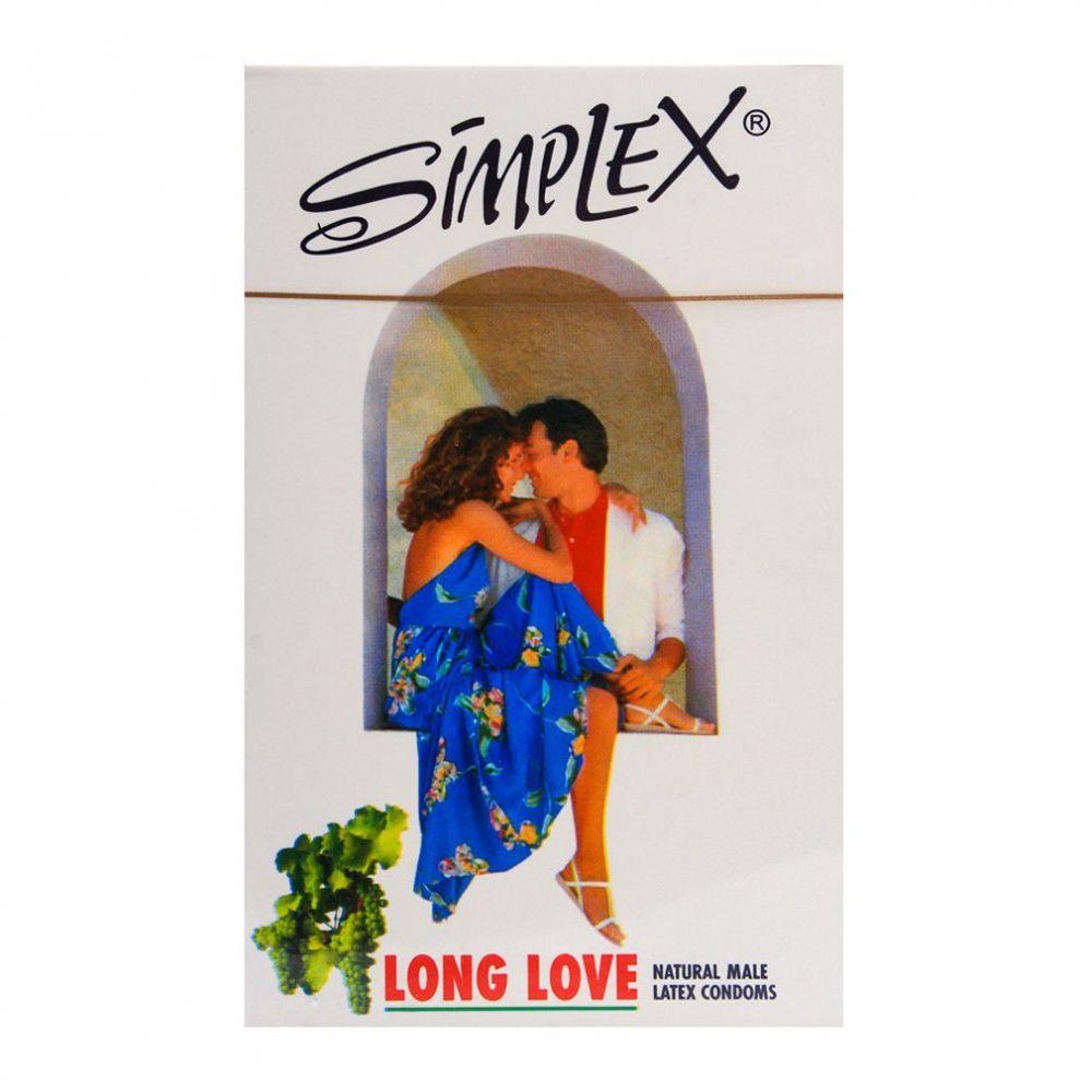 Simplex Long Love Natural Male Latex Condoms 12-Pack