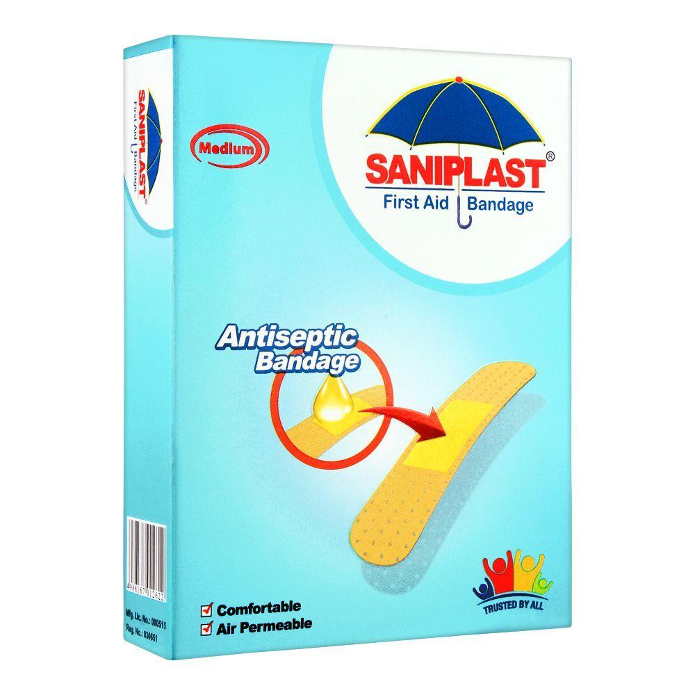 Saniplast First Aid Antiseptic Bandage, Medium, 20-Pack