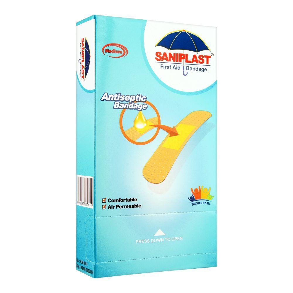Saniplast First Aid Antiseptic Bandage, Medium, Giant 100-Pack