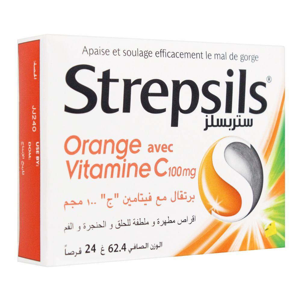 Strepsils Vitamin C, Imported, 24 Tablets