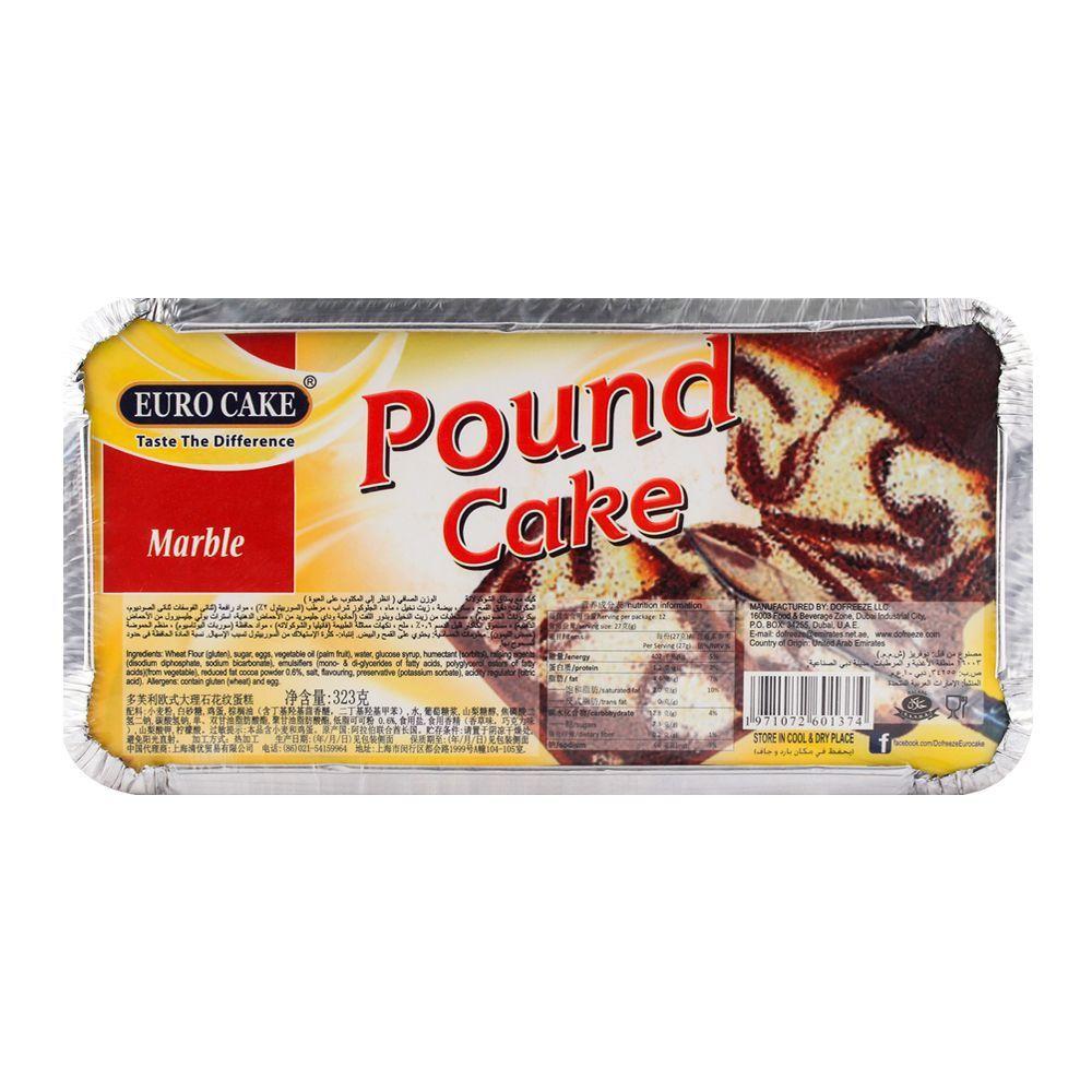 Euro Pound Cake Marble 323gm