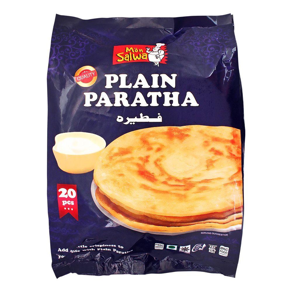 MonSalwa Plain Paratha, Family Pack, 20-Pack