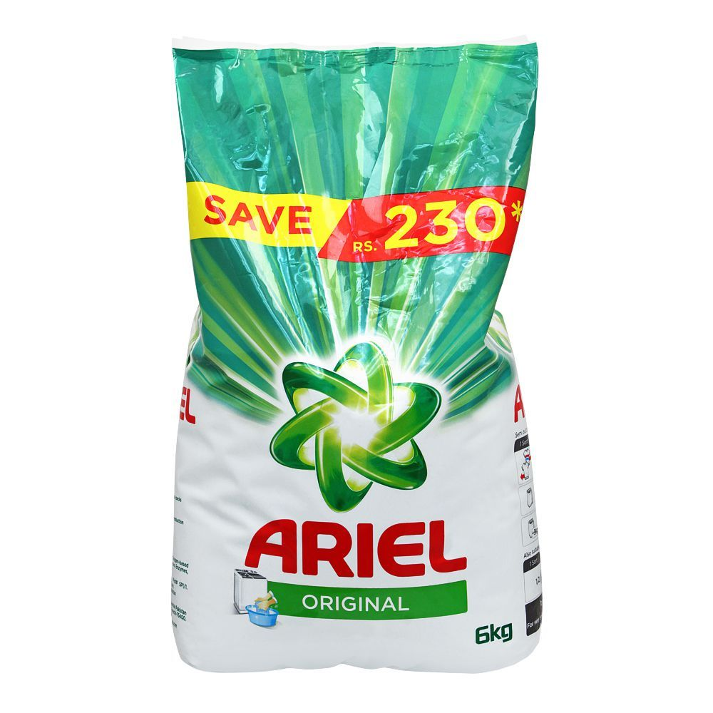 Ariel Original Perfume Washing Powder, 6 KG