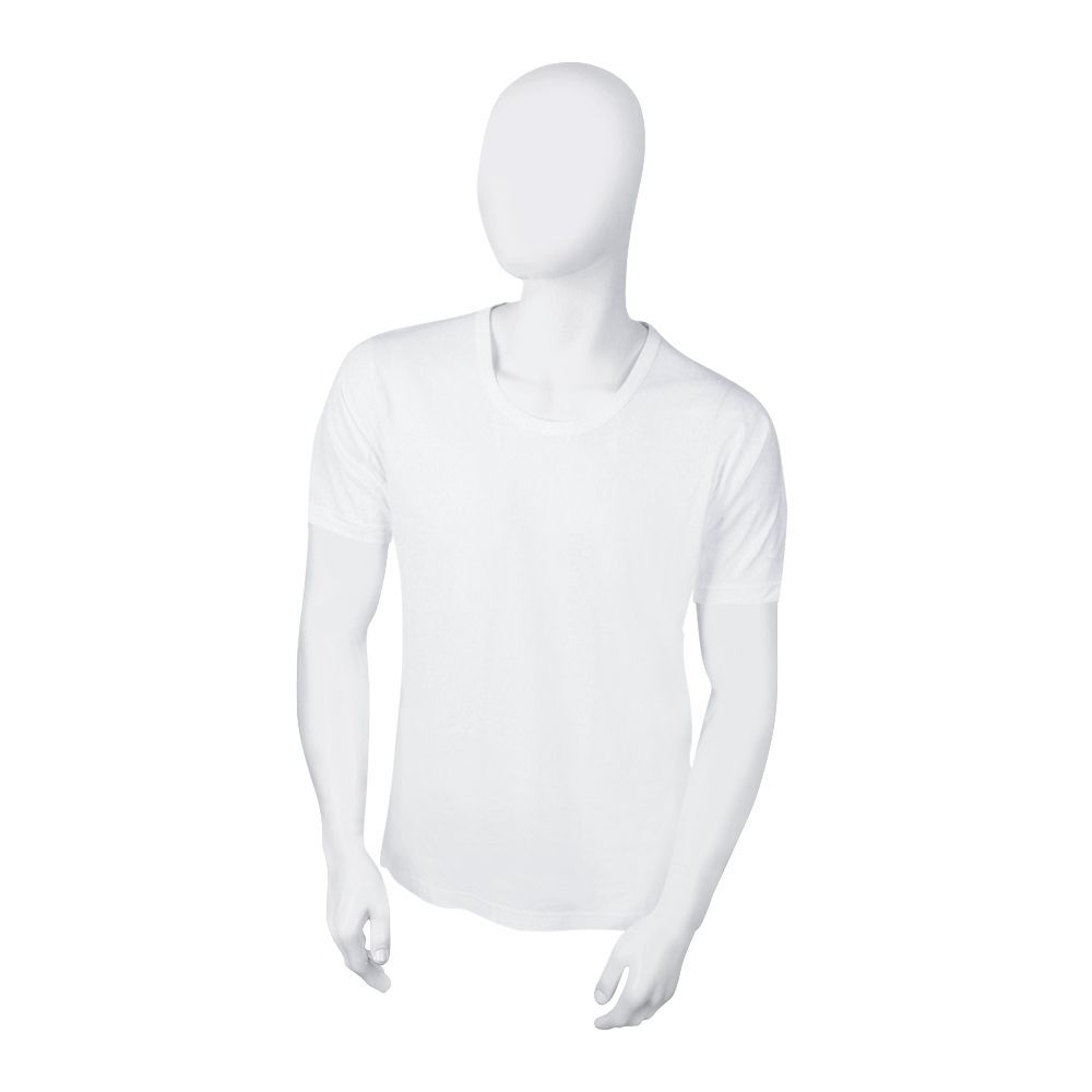 Feel Cotton Collection Men's Vest, Sleeves, White