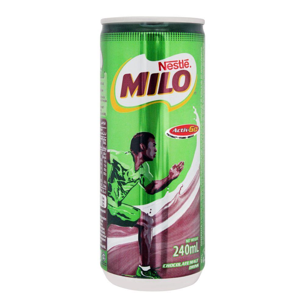 Milo Chocolate Malt Drink, Can, 240ml