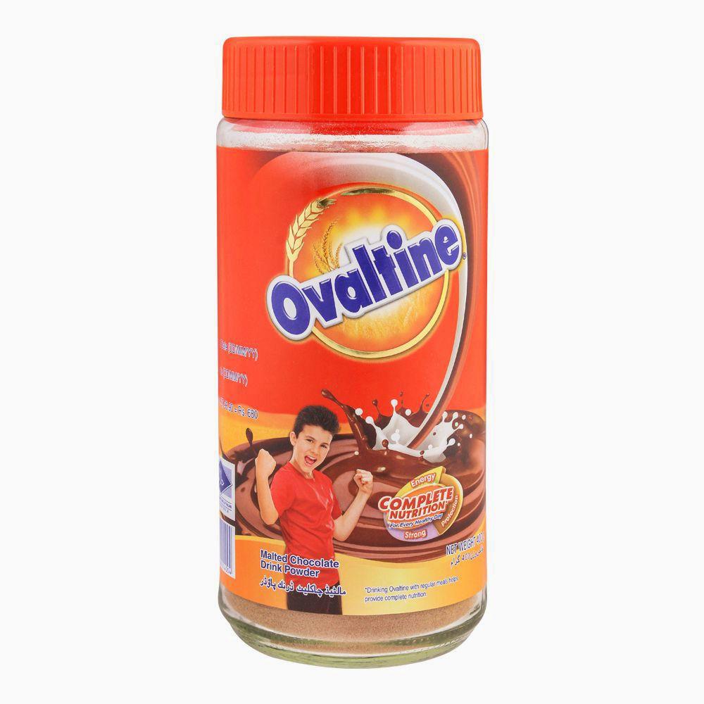 Ovaltine Malted Chocolate Drink Powder, Jar, 400g